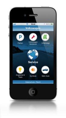 die neue volkswagen service app f r iphone und andriod golf. Black Bedroom Furniture Sets. Home Design Ideas
